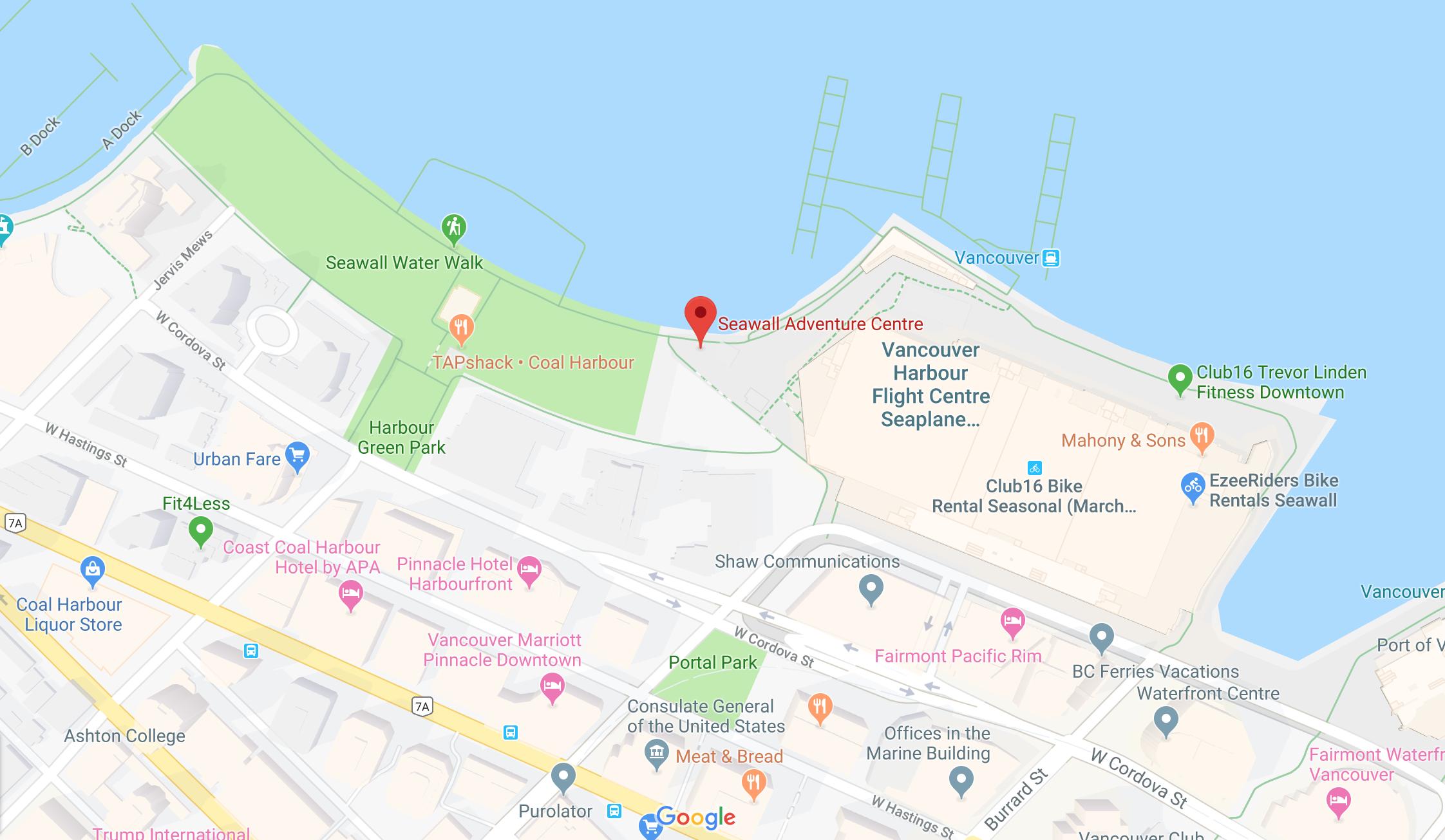 Seawall Adventure Centre Location